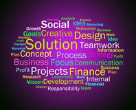 Solution Words Shows Success Resolution Solving And Solved Royalty Free Stock Photo