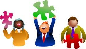 Solutionneurs de puzzle Images libres de droits
