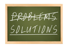 Solutions. A chalk board with no problems and solutions Royalty Free Stock Image