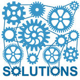 Solutions. Finding solutions to complicated problems Stock Photo