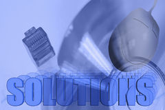 Solutions 3D Network Illustration Royalty Free Stock Photography