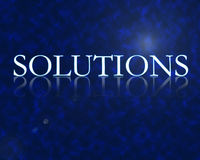 Solutions. 3d with reflection high resolution digital Royalty Free Stock Photo