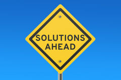 Solutions ahead road sign Royalty Free Stock Photo