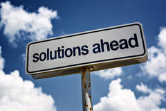 Solutions ahead Royalty Free Stock Photography