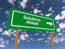 Solutions ahead Royalty Free Stock Image