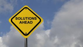 Solutions ahead stock footage