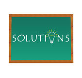 Solutions Blackboard Stock Photo