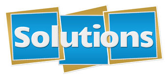 Solutions Blue Blocks Stock Photo