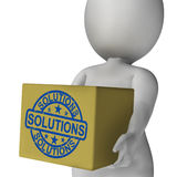 Solutions Box Means Solving Problems Stock Image