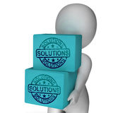 Solutions Boxes Mean Solving Market Royalty Free Stock Image
