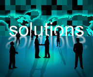 Solutions Business Means Resolution Trade And Corporation Stock Photos