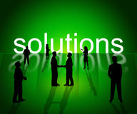 Solutions Business Shows Company Resolution And Successful Royalty Free Stock Image