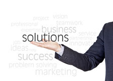 Solutions business words Royalty Free Stock Photos