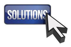 Solutions button Stock Image