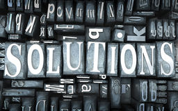 Solutions close-up Royalty Free Stock Images