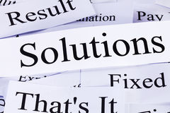 Solutions Concept Royalty Free Stock Photography