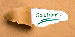 Solutions Royalty Free Stock Photo