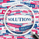 SOLUTIONS stock illustration