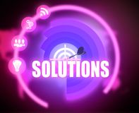Solutions concept plan graphic stock illustration