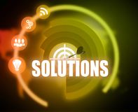 Solutions concept plan graphic. 2018 Royalty Free Stock Photo