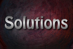 Solutions Concept Royalty Free Stock Photos
