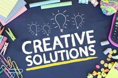 Solutions créatrices d'affaires Image libre de droits