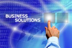 Solutions d'affaires Image stock