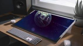 Solutions d'affaires sur l'écran de moniteur clips vidéos