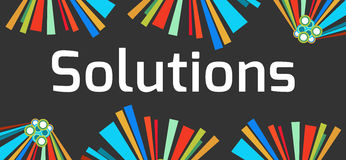 Solutions Dark Colorful Elements Stock Images