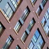 Solutions de façade de nouveaux bâtiments résidentiels image stock