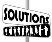 Solutions de signe de route Photo libre de droits