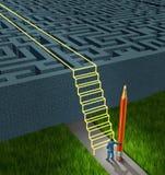Solutions de stratégie commerciale Image libre de droits