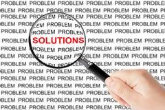 Solutions de trouvaille Photo libre de droits