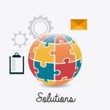 Solutions design. Solutions design over white background,  illustration Stock Image