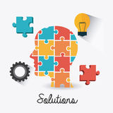 Solutions design. Solutions design over white background,  illustration Royalty Free Stock Photography