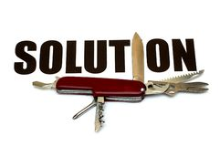 Solutions for different problems - conceptual Royalty Free Stock Images