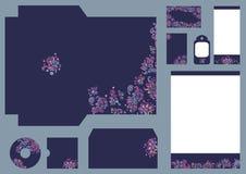 Solutions fleuries colorées d'identité pour d'entreprise ou des affaires illustration de vecteur