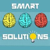 Solutions futées Images libres de droits