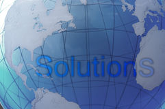 Solutions globales Photo libre de droits