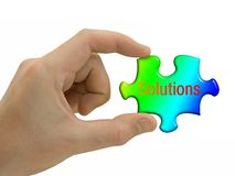 Solutions In Hand Royalty Free Stock Images