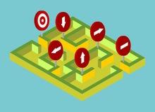 Solutions isométriques de labyrinthe Image libre de droits