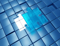 Solutions. Jigsaw puzzle solutions concept design Royalty Free Stock Image