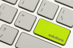 Solutions Key Royalty Free Stock Image