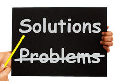 Solutions Not Problems Notice On Board Stock Images