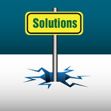 Solutions plate Stock Photo