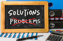 Solutions and problems concept Stock Images