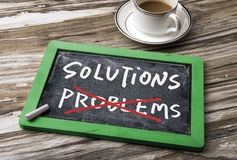 Solutions and problems concept Stock Photography