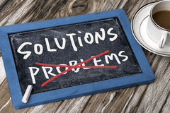 Solutions and problems concept Royalty Free Stock Image