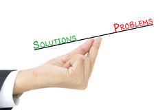 Solutions and problems Royalty Free Stock Image
