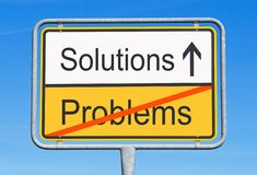 Solutions instead Problems vector illustration